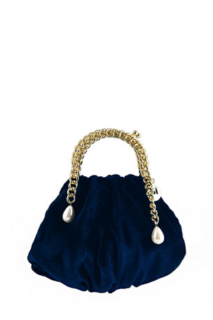 Rosantica Maria Luisa Velvet Cocktail Clutch Bag