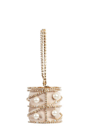 Rosantica Bagliore Mini Faux-Pearl Top-Handle Bag