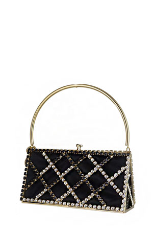 Rosantica Garofano Crystal Top-Handle Clutch Bag