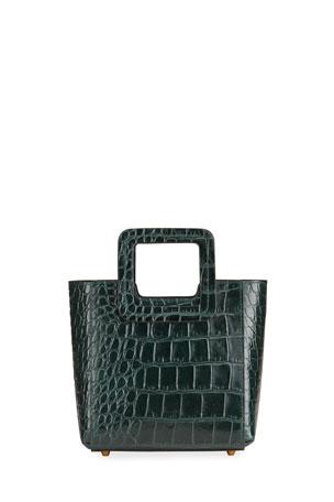 Staud Mini Shirley Mock-Croc Tote Bag