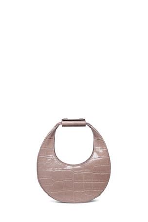 Staud Moon Mini Mock-Croc Shoulder Bag