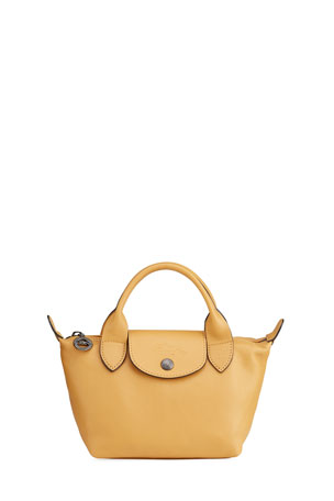 Longchamp Le Pliage Leather Handbag with Strap
