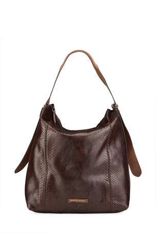 Brunello Cucinelli Python Slouchy Shoulder Bag