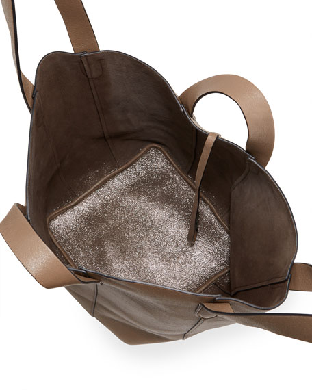 Image 2 of 5: Brunello Cucinelli Small Mixed Leather Multi Strap Convertible Tote Bag