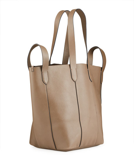 Image 3 of 5: Brunello Cucinelli Small Mixed Leather Multi Strap Convertible Tote Bag