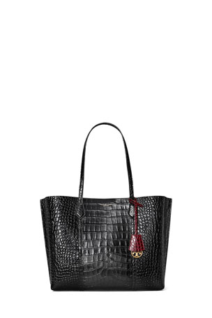 Tory Burch Perry Embossed Triple-Compartment Tote Bag