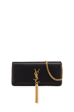 Saint Laurent Kate Supple 99 YSL Monogram Shoulder Bag w/ Tassel