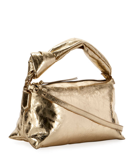 Image 2 of 2: Metallic Crinkle Shoulder Bag