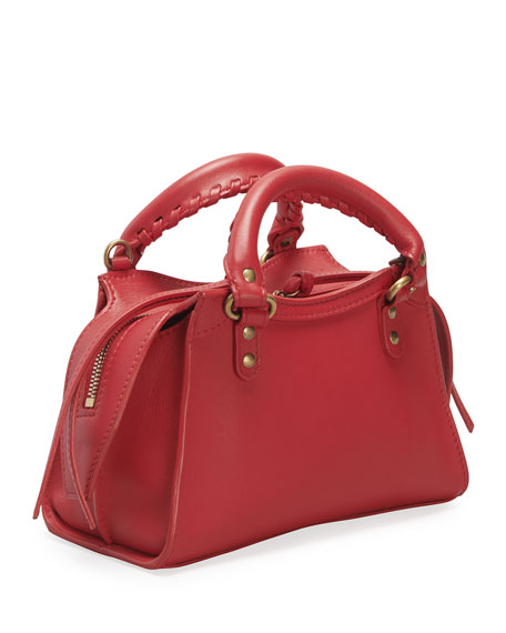 Image 3 of 3: Balenciaga Neo Class City Mini Calfskin Satchel Bag