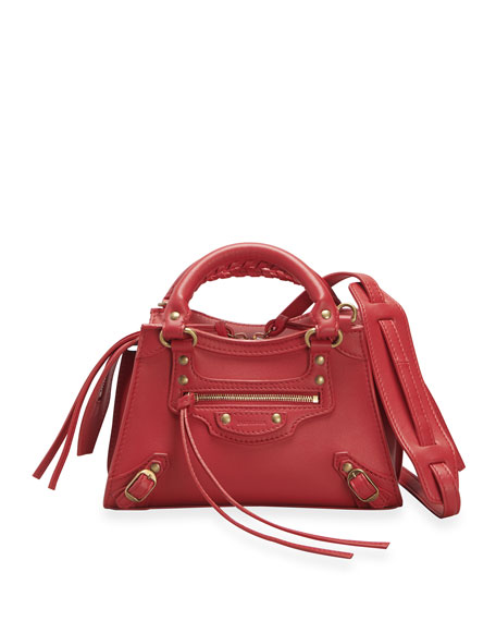 Image 1 of 3: Balenciaga Neo Class City Mini Calfskin Satchel Bag
