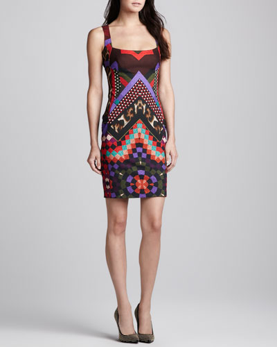 Just Cavalli Quilted Star-Print Dress
