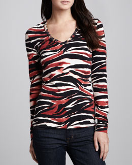 Just Cavalli Vintage Zebra-Print Top