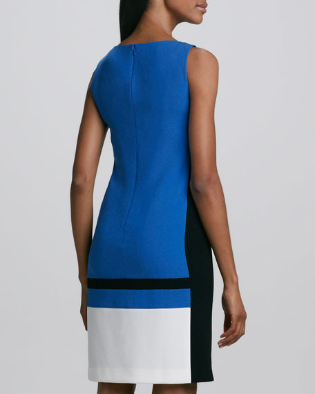 Veronica Colorblock Crepe Dress