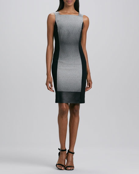 Saturine Colorblock Sheath Dress