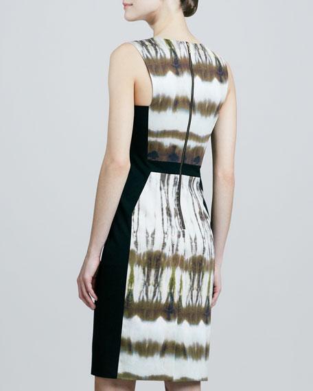 Sleeveless Tie-Dye Colorblock Dress