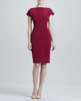 Rachel Roy Boat Neck Dress with Nailhead Trim