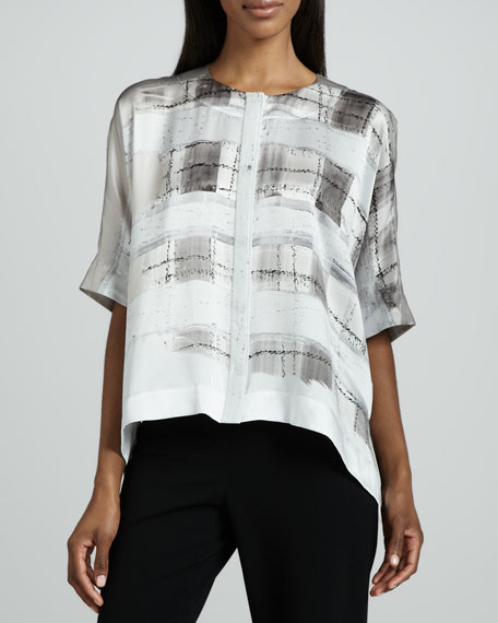 Jordanna Watercolor Plaid Blouse