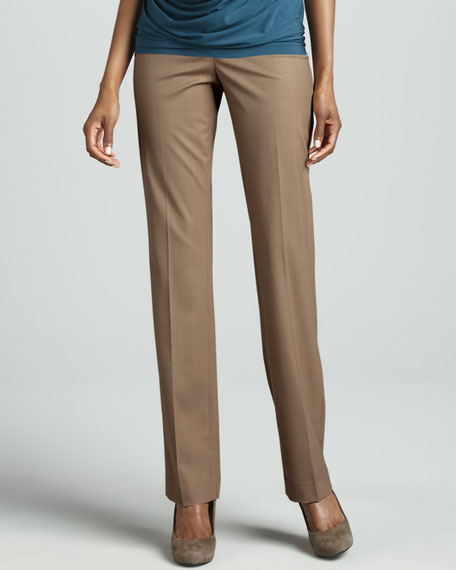 Barrow Straight-Leg Pants, Cammello Melange