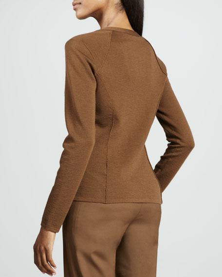 Textured-Panel Cardigan