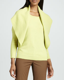 Lafayette 148 New York Ribbed Shrug