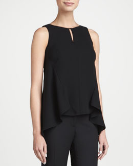 Lafayette 148 New York Sleeveless Silk High-Low Blouse