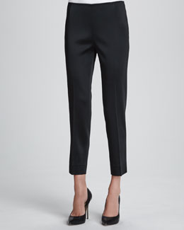 Lafayette 148 New York Stanton Belle Satin Cloth Pants