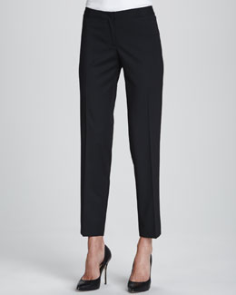 Lafayette 148 New York Astor Stretch Crepe Slim-Leg Pants