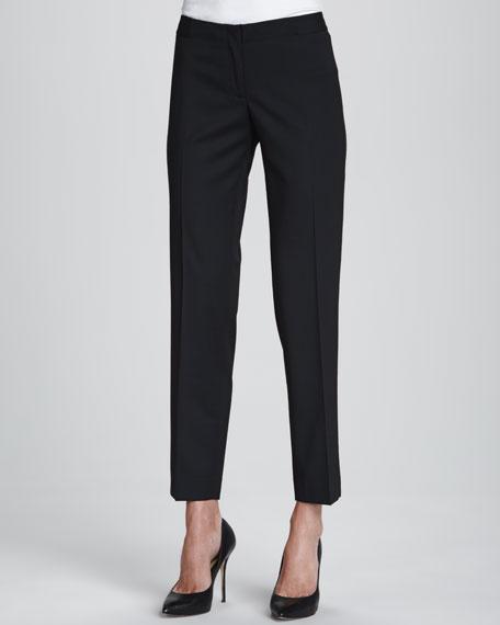 Astor Stretch Crepe Slim-Leg Pants