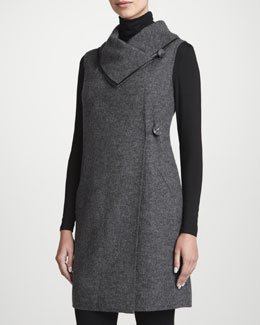 Lafayette 148 New York Tunic-Length Wool Felt Vest