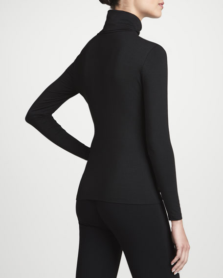 Stretch Jersey Long-Sleeve Turtleneck