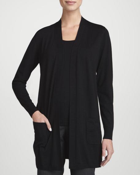 Fine-Gauge Merino Wool Cardigan
