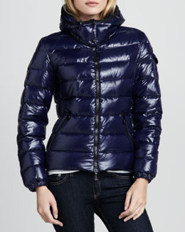 Moncler Bady Short Puffer Jacket, Royal
