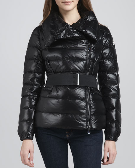 Sabline Asymmetric Belted Puffer Jacket