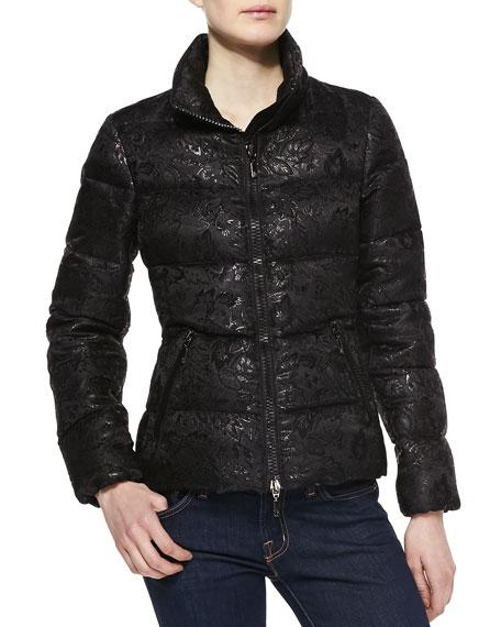 Sariette Brocade Puffer Coat
