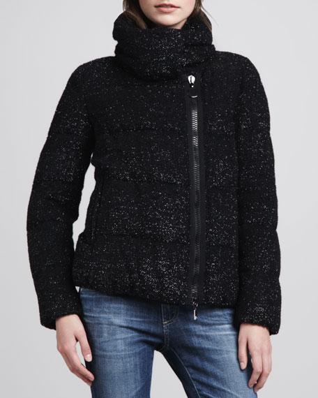 Rochers Glittered Puffer Jacket