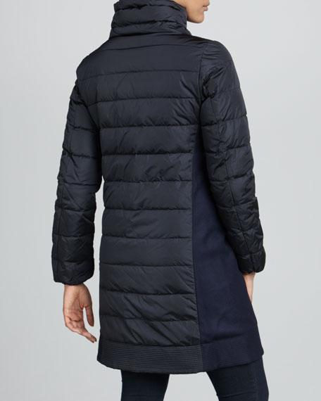 Herisse Knit-Side Puffer Coat