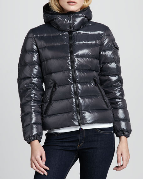 Bady Short Puffer Jacket, Gray