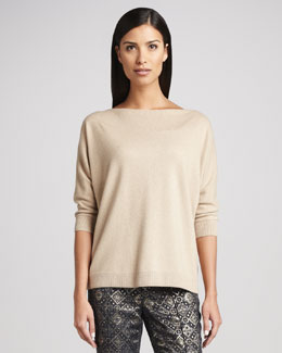 Studio 148 by Lafayette 148 New York Gold Glamour Lame Sweater