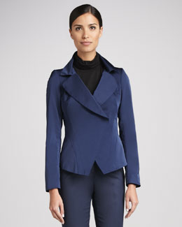 Lafayette 148 New York Stellan Couture Cloth Jacket, Luna