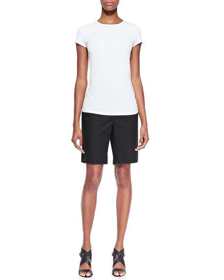Metro Stretch Four-Pocket Bermuda Shorts, Black