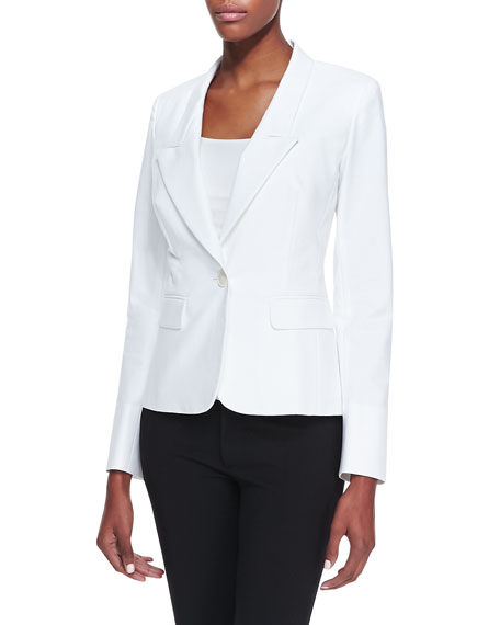 One-Button Jacket, White