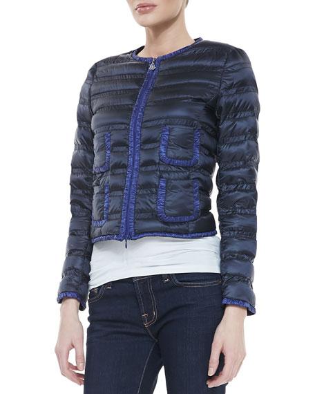 Moncler Lerissy Flavienne Two-Tone Puffer Jacket