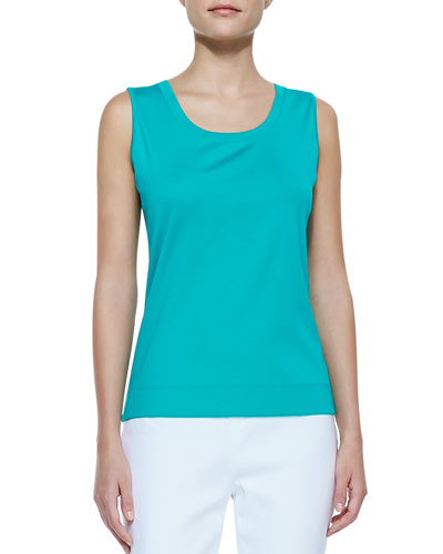 Lafayette 148 New York Ribbed Sleeveless Tank Top