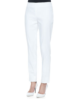 Lafayette 148 New York Stanton Stretch-Linen Pants