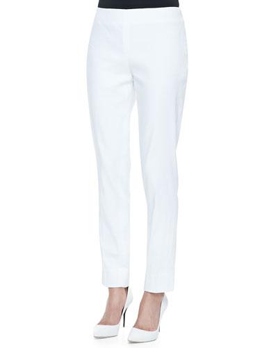 Lafayette 148 New York Stanton Stretch-Linen Pants
