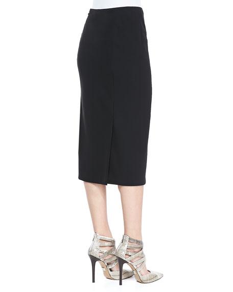 Priscilla Over-the-Knee Skirt, Black