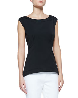 Lafayette 148 New York Sleeveless Peplum Top