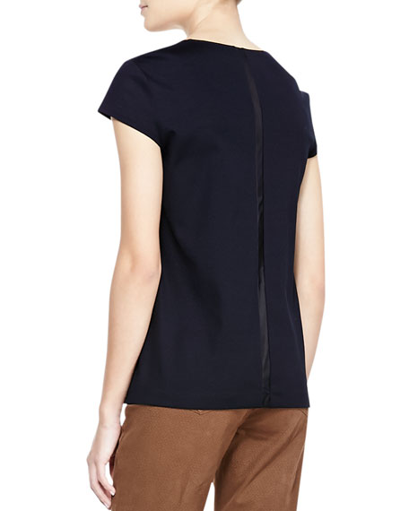 Scoop-Neck Cap-Sleeve Top