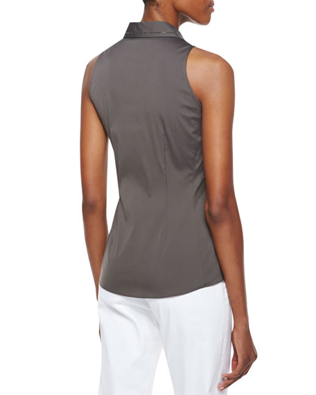 Charelle Sleeveless Blouse, Cremini