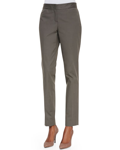 Lafayette 148 New York Downtown Straight-Leg Pants, Cremini